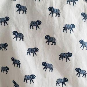 Ted Baker London Shirts - Ted Baker Blue Elephant Short Sleeve Shirt